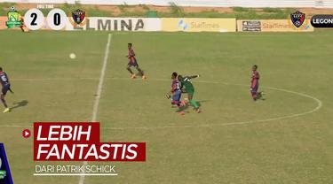 Berita video pemain Liga Ghana mencetak gol yang bisa dikatakan lebih fantastis dari yang ditorehkan Patrik Schick di Euro 2020.