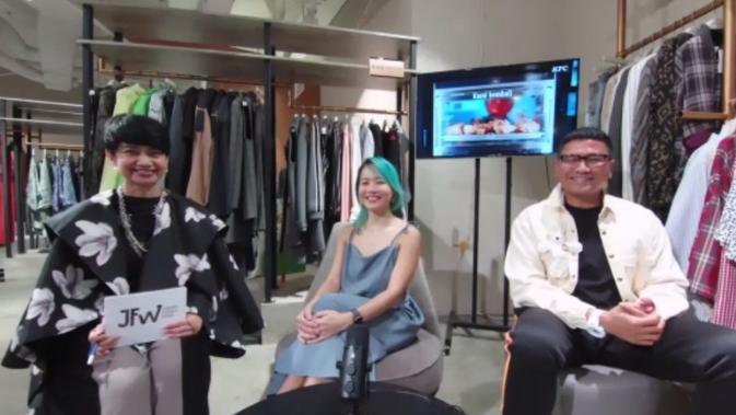 Konferensi Pers LPA 2020, LPM Menswear 2020, dan Fashion Force Award - JFW 2021. (Screenshot Zoom)