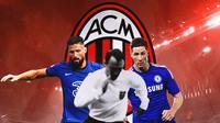 AC Milan - Olivier Giroud, Jimmy Greaves, Fernando Torres (Bola.com/Adreanus Titus)