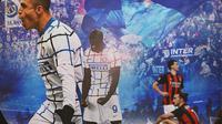 Cerita Bola - Selebrasi Gol Inter Milan dan Pemain AC Milan (Bola.com/Adreanus Titus)