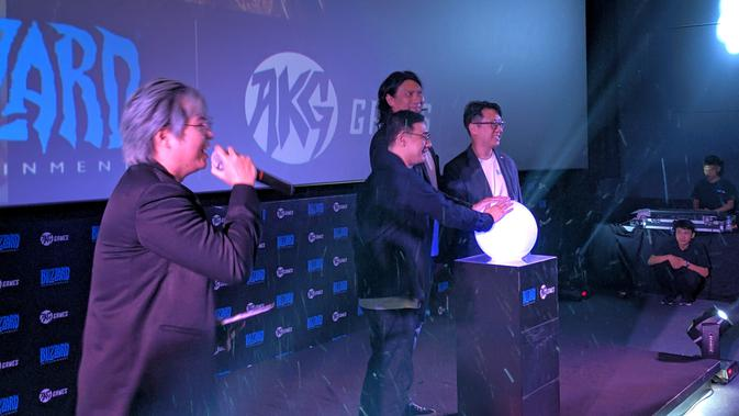 Salim Group antusias untuk bekerja sama dengan Blizzard Entertainment. (Bola.com/Muhammad Adiyaksa)