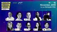 Social Media Week 2019 siap digelar pada 11-15 November 2015 di The Hall, Senayan City, Jakarta.(ist.)