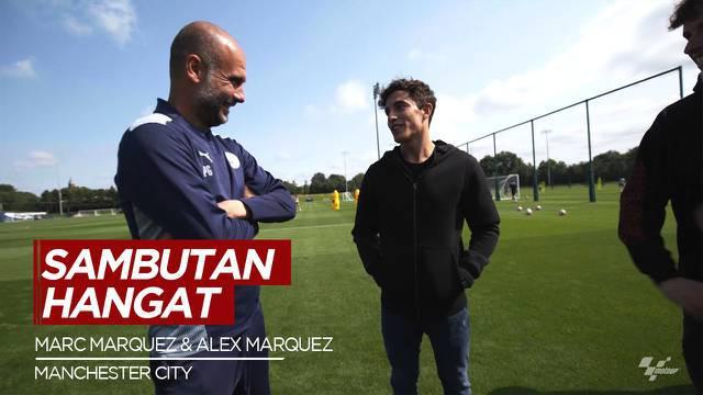 Berita Video Pep Guardiola Sambut Hangat Marc Marquez dan Alex Marquez Saat Berkunjung ke Manchester City