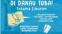 Asyik, Damri beri layanan gratis di Danau Toba selama liburan. (foto: dok. Kemenpar)