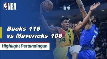 Giannis Antetokounmpo mencetak 31 poin dan meraih 15 rebound untuk memimpin Milwaukee dari Dallas.