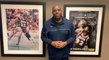 Berita video pesan penting dari legenda LA Lakers, Magic Johnson, untuk fans agar tetap aman dan tidak terpapar virus Corona.