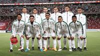 Timnas Indonesia U-23 saat uji coba kontra Singapura. (Dok. PSSI)
