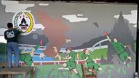 Karya seni mural yang digoreskan anggota Slemania di salah satu sudut bangunan Omah PSS. (Dok PSS Sleman)
