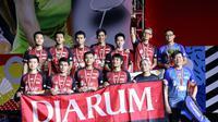 Djarum Foundation menggelontorkan bonus untuk tim putra PB Djarum yang meraih gelar juara di Djarum Superliga Badminton 2019. (dok. PB Djarum)