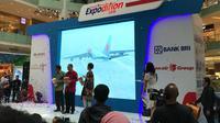 Lion Air Group menghadirkan 'Lion Air Group Expodition 2018'. Acara pameran pertama kali yang diselnggarakan ini, berlokasi di Main Atrium, Gandaria City, Jumat, (16/3/2018).