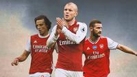 Ilustrasi - David Luiz, Jack Wilshere, Shkodran Mustafi (Bola.com/Adreanus Titus)