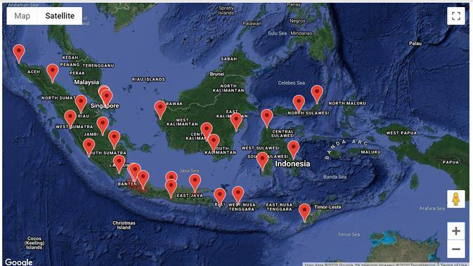 Sebaran pengguna Twitter yang membahas topik omnibus law berdasarkan provinsi. Kredit: Drone Emprit Academic via Universitas Islam Indonesia