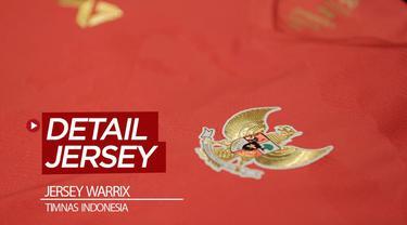 Berita video apparel Warrix memperlihatkan model jersey yang kemungkinan akan dipakai Timnas Indonesia untuk 2020. Seperti apa detailnya?