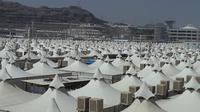 Tenda-tenda jemaah haji di Mina, Arab Saudi. (Liputan6.com/Anri Syaiful)