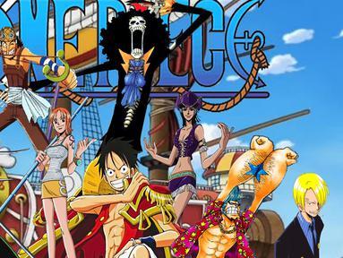 Anime One Piece mengandung banyak sekali unsur kekerasan yang tergolong sadis. Selain itu, cara berpakaian karakter ceweknya dianggap terlalu vulgar. (vignette2.wikia.nocookie.net)