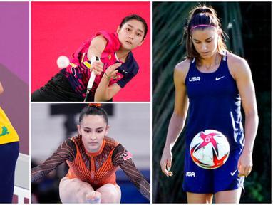 Ajang Olimpiade Tokyo 2020 tidak hanya menampilkan pertandingan yang seru namun juga dihiasi dengan kehadiran para atlet wanita bertalenta nan cantik. Berikut barisan atlet cantik yang ikut memeriahkan pesta olahraga terbesar dunia tersebut.