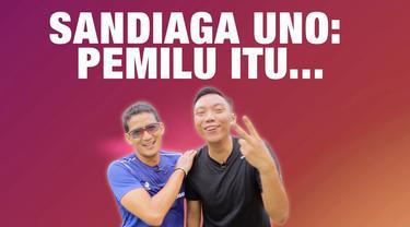 Cawapres Sandiaga Uno meyakini, Pemilu harusnya jadi sesuatu yang menggembirakan. Simak wawancara khusus tim liputan6.com dengan Cawapres pendamping Prabowo Subianto ini.