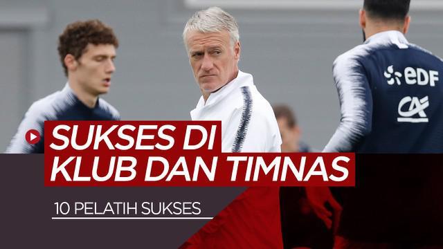 Berita motion grafis 10 pelatih yang sukses di klub dan tim nasional, diantaranya Vicente del Bosque bersama Real Madrid dan Spanyol.