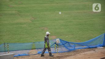 FOTO: Melihat Lebih Dekat Rumput Hybrid di Jakarta International Stadium