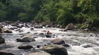 Pencarian korban tenggelam di Sungai Banjaran, Banyumas terkendala kondisi sungai berbatu dan berarus deras. (Foto: Liputan6.com/BPBD Banyumas/Muhamad Ridlo)