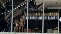 Area restoran yang mewah di Hotel Shangri-La, Colombo, di mana terkena dampak ledakan bom. (AFP / Ishara S. Kodikara)
