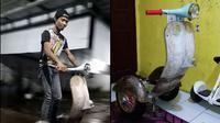 Vespa segway elektrik bikinan sendiri. (Facebook/Dhamar)
