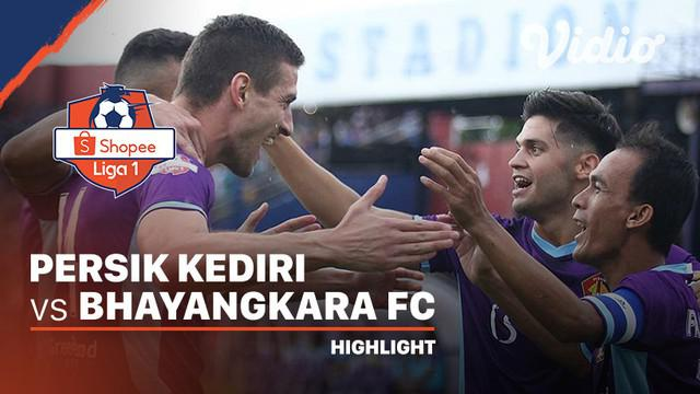 Berita Video Highlights Shopee Liga 1 2020, Persik Kediri Sukses Redam Bhayangkara 1-1
