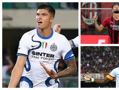 Foto-foto kolase pemain yang baru saja dibeli langsung menujukkan kualitasnya sebagai pemain top di Liga Italia. (Foto: AP & AFP)