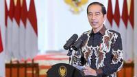 Sambutan Presiden Joko Widodo (Jokowi)  secara virtual pada Minggu, 27 Desember 2020, perayaan Natal Nasional tahun 2020 mengajak seluruh pihak untuk tidak cepat kehilangan harapan. (Biro Pers Sekretariat Presiden)