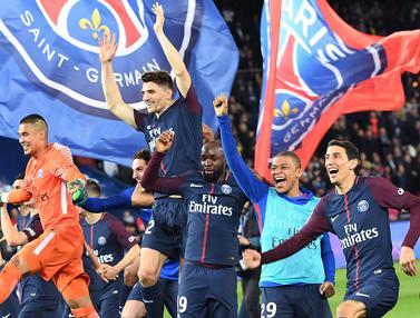 FOTO: Bungkam Monaco 7-1, PSG Raih Gelar Juara Ligue 1 Prancis