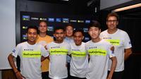 Para peserta akademi VR46 Master Camp milik Valentino Rossi, salah satunya pembalap asal Indonesia, Muhammad Faerozi Toreqottullah. (Twitter/Yamaha MotoGP)