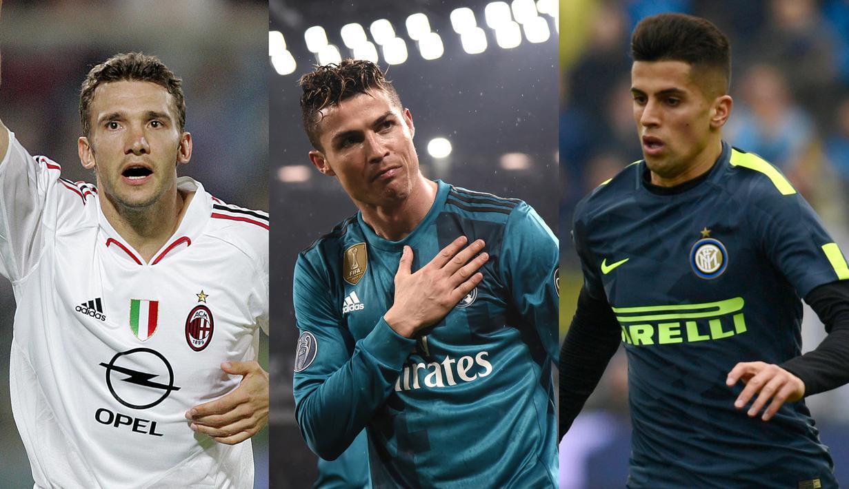 Serie A memang belum bisa bersanding dengan Premier League dalam urusan belanja pemain. Namun Serie A pernah melakukan transfer pemain super mahal dan kembali melakukannya saat Juventus memboyong Ronaldo. (Kolase Foto AFP)