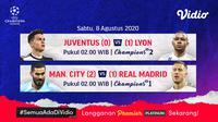 Jadwal Liga Champions Babak 16 Besar di Vidio. (Sumber: Vidio)