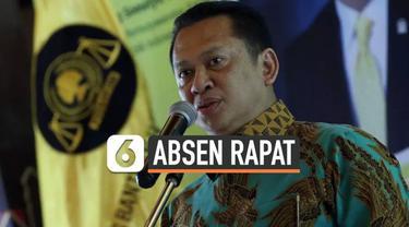 Politikus Golkar dan bakal calon ketum Bambang Soesatyo (Bamsoet) terlihat kembali absen dalam rapat pleno partai Golkar di kantor DPP, Jalan Anggrek Neli, Slipi, Jakarta, Rabu (13/11/2019). Padahal, sebelumnya Ketua MPR itu getol mendorong digelarny...