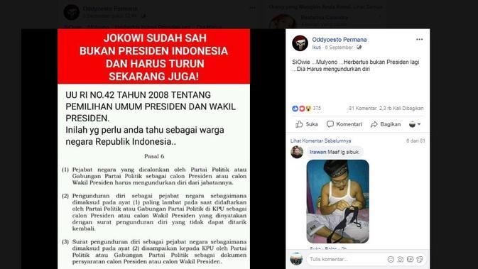 [Cek Fakta] Jokowi Sudah Sah Bukan Presiden dan Harus Mundur Sekarang?