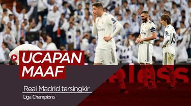 Berita Video Ucapan Maaf Pemain Real Madrid Setelah Disingkirkan Ajax di Liga Champions