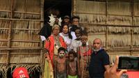 Menteri Pemberdayaan Perempuan dan Perlindungan Anak (PPPA) Yohana Yembise atau Mama Yo mendatangi kampung Astj, Asmat, Papua. (Ist)