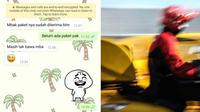 Chat Kocak Antara Kurir dan Pelanggan, Bikin Ketawa Ngakak. (Sumber: Twitter/txtdariolshop dan iStock)