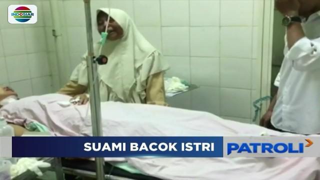 Lantaran kerap memarahi bahkan hingga menghina, seorang istri di Sukabumi, Jawa Barat, dibacok suaminya dengan sebilah pisau daging.
