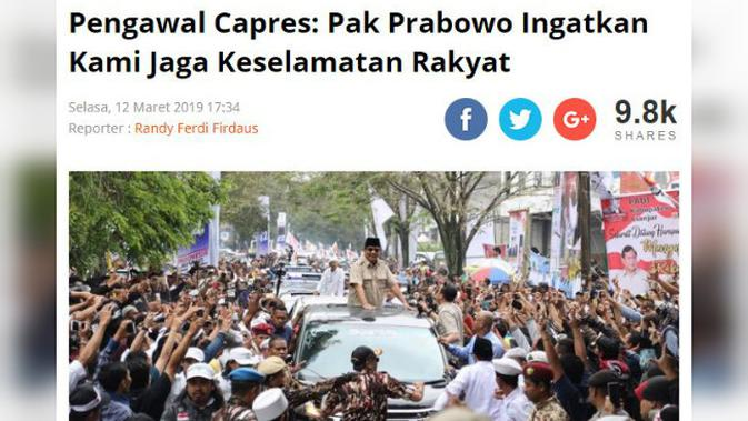 [Cek Fakta] Benarkan Prabowo Subianto Berlaku Kasar pada Warga?