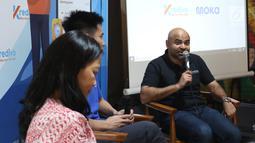 CEO dan Co-founder PT FinAccel Teknologi Indonesia Akshay Garg saat peluncuran Transaksi offline Kredivo di Jakarta (26/2). Jumlah ini akan terus bertambah dengan pengaktifan Kredivo di seluruh merchant Moka secara bertahap. (Liputan6.com/Angga Yuniar)