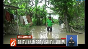 Warga korban banjir berharap ada bantuan dari pemerintah untuk membantu mereka menyambung hidup selama banjir melanda.