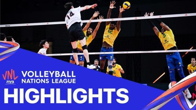 Tim Putra Brasil Kalahkan Jepang dengan Skor Telak 3-0 di Volleyball Nations League Hari Ini