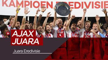 Berita Video Gagal di Liga Champions, Skuad Muda Ajax Juarai Eredivisie