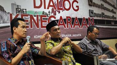 Dewan Perwakilan Daerah RI (DPD) RI adakan diskusi soal RUU Pilkada di Jakarta, Rabu (10/9/2014) (Liputan6.com/Miftahul Hayat)