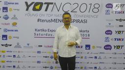 CEO KapanLagi Youniverse (KLY), Steve Christian berpose saat menghadiri Youth On Top National Conference  (YOTNC) 2018 di Balai Kartini, Jakarta, Sabtu (25/8). (Merdeka.com/Imam Buhori)