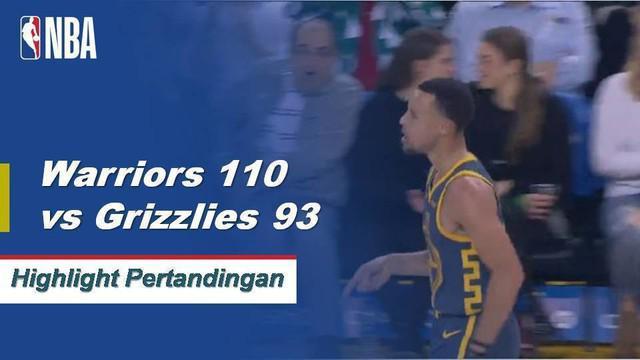 Stephen Curry mendapat 20 poin dan menjadi tonggak kemenangan melawan Grizzlies 110-93