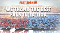 Pendukung Valencia dinobatkan sebagai suporter terbaik La Liga 2014/15.