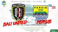 Jadwal Liga 1 2018, Bali United Vs Persib Bandung. (Bola.com/Dody Iryawan)