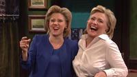 Kate McKinnon dan Hillary Clinton. (The Hollywood Reporter)